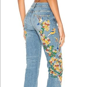 Free people embroidered GF jeans